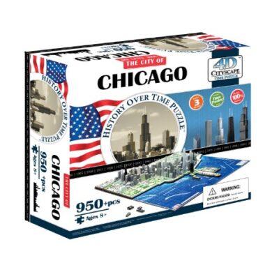 4d Chicago Cityscape Time Puzzle Lingua Inglese Inglese Giocattolo 1 Novembre 2010 0