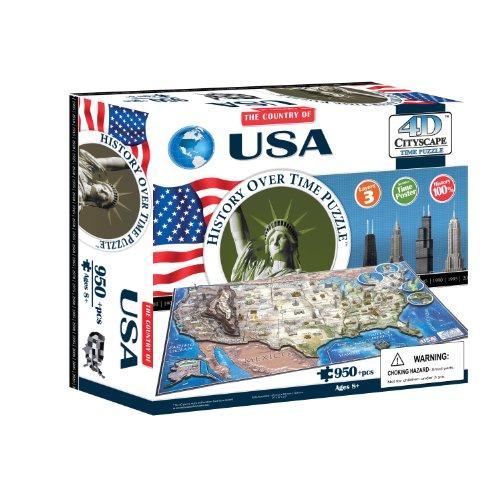 4d Cityscape Time Puzzle Usa Inglese Giocattolo 1 Settembre 2012 0
