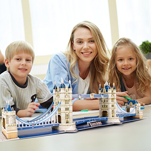 Cubic Fun Puzzle 3d City Traveller Del Tower Bridge A Londra National Geographic Cpa Toy Group Ds0978 0 1