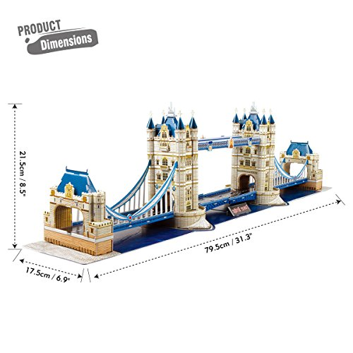 Cubic Fun Puzzle 3d City Traveller Del Tower Bridge A Londra National Geographic Cpa Toy Group Ds0978 0 5