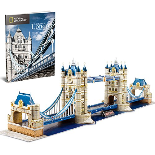 Cubic Fun Puzzle 3d City Traveller Del Tower Bridge A Londra National Geographic Cpa Toy Group Ds0978 0