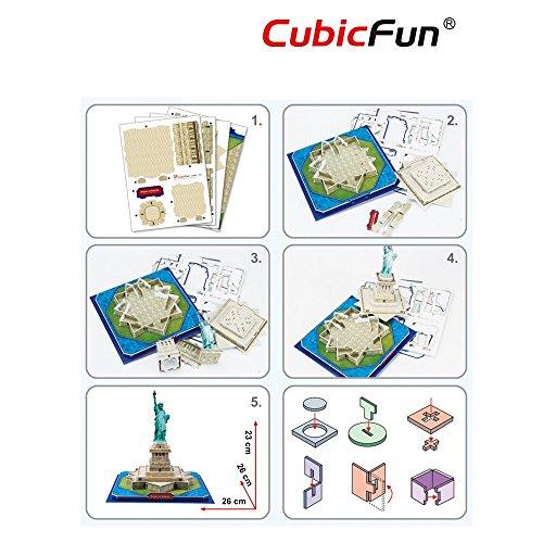 Cubic Fun Puzzle 3d Modellino Souvenir C080h 0 5