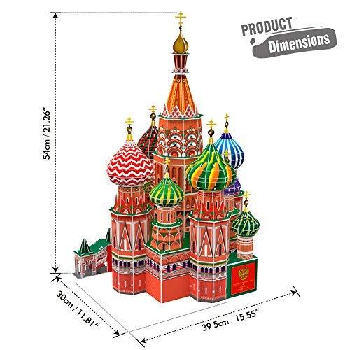 Cubicfun Mc093h 3d Puzzle Cattedrale Di San Basilio Cremlino Mosca Russia 0 0