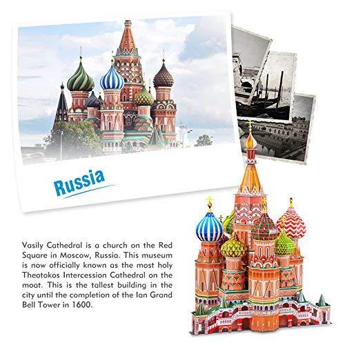 Cubicfun Mc093h 3d Puzzle Cattedrale Di San Basilio Cremlino Mosca Russia 0 2