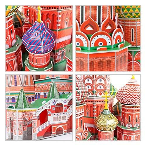Cubicfun Mc093h 3d Puzzle Cattedrale Di San Basilio Cremlino Mosca Russia 0 3