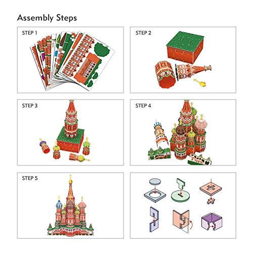 Cubicfun Mc093h 3d Puzzle Cattedrale Di San Basilio Cremlino Mosca Russia 0 4
