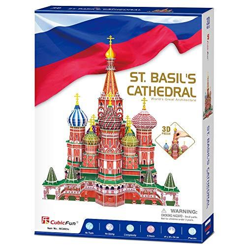 Cubicfun Mc093h 3d Puzzle Cattedrale Di San Basilio Cremlino Mosca Russia 0 5
