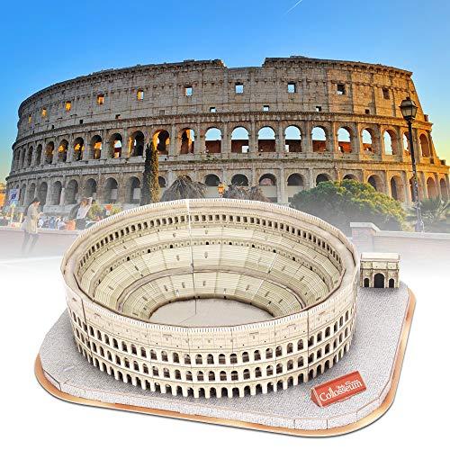 Cubicfun Puzzle 3d Colosseo Romano Italia Architettura Kit Di Modellismo Con Libretto Del National Geographic Buona Souvenir Regalo Per Bambini Adulti 131 Pezzi 0 0
