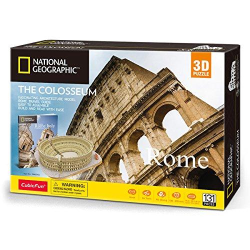 Cubicfun Puzzle 3d Colosseo Romano Italia Architettura Kit Di Modellismo Con Libretto Del National Geographic Buona Souvenir Regalo Per Bambini Adulti 131 Pezzi 0 5
