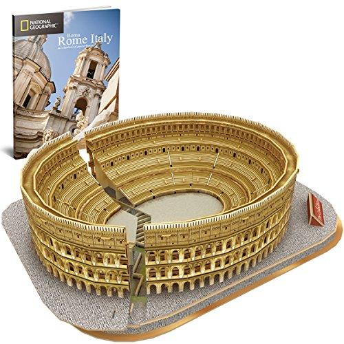 Cubicfun Puzzle 3d Colosseo Romano Italia Architettura Kit Di Modellismo Con Libretto Del National Geographic Buona Souvenir Regalo Per Bambini Adulti 131 Pezzi 0