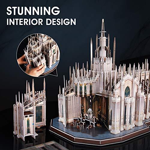 Cubicfun Puzzle 3d Italia Duomo Di Milano Kit Di Modelli Architettonici Souvenir Regalo Per Adulti E Bambini 251 Pezzi 0 1