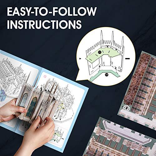 Cubicfun Puzzle 3d Italia Duomo Di Milano Kit Di Modelli Architettonici Souvenir Regalo Per Adulti E Bambini 251 Pezzi 0 2