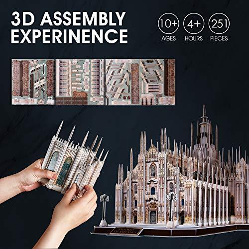 Cubicfun Puzzle 3d Italia Duomo Di Milano Kit Di Modelli Architettonici Souvenir Regalo Per Adulti E Bambini 251 Pezzi 0 3