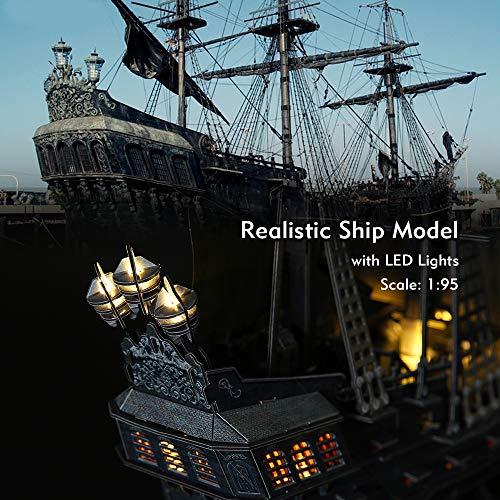 Cubicfun Puzzle 3d Queen Annes Revenge Grande Modello Di Nave Pirata Con Led 340 Pezzi 0 0