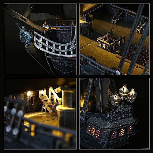 Cubicfun Puzzle 3d Queen Annes Revenge Grande Modello Di Nave Pirata Con Led 340 Pezzi 0 3