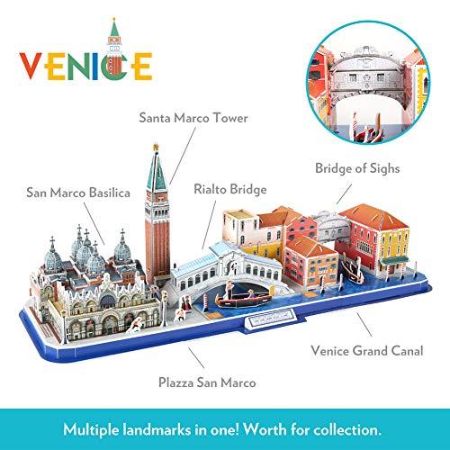 Cubicfun Puzzle 3d Venice City Skyline Puzzle Diy St Marks Square Kit Modello Di Edificio Italia Basilica Di San Marco E Torre Canal Grande 126 Pezzi 0 0