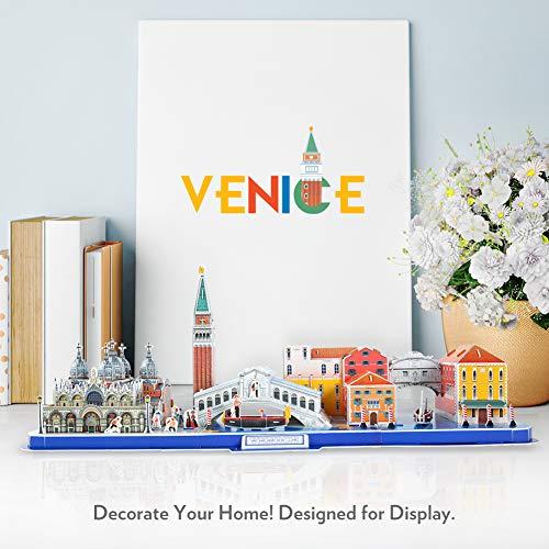 Cubicfun Puzzle 3d Venice City Skyline Puzzle Diy St Marks Square Kit Modello Di Edificio Italia Basilica Di San Marco E Torre Canal Grande 126 Pezzi 0 1