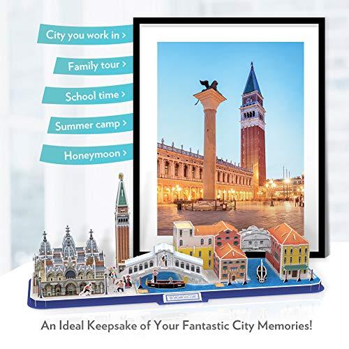Cubicfun Puzzle 3d Venice City Skyline Puzzle Diy St Marks Square Kit Modello Di Edificio Italia Basilica Di San Marco E Torre Canal Grande 126 Pezzi 0 2