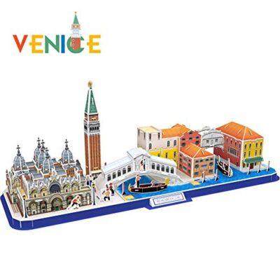 Cubicfun Puzzle 3d Venice City Skyline Puzzle Diy St Marks Square Kit Modello Di Edificio Italia Basilica Di San Marco E Torre Canal Grande 126 Pezzi 0