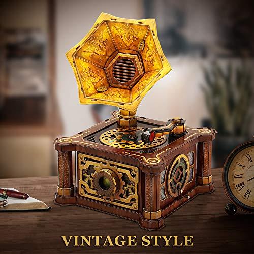 Cubicfun Puzzle 3d Per Adulti Bambini Fonografo Vintage Carillon Kit Modello Regalo Di Decorazione Per Donna E Uomo Castello Nel Cielo Melodia 66 Pezzi 0 0