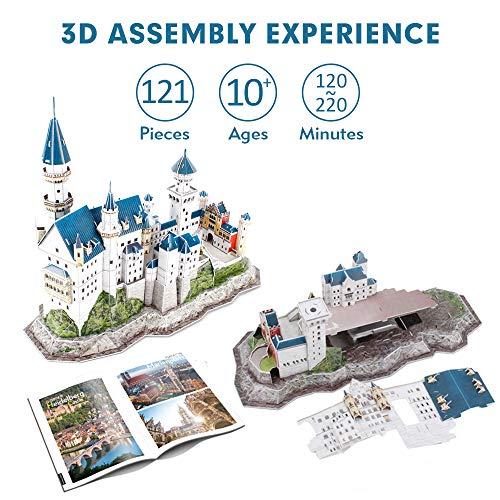 Cubicfun Puzzle 3d Per Bambini Adulti Germania Architettura Kit Di Modellismo Con Libretto Del National Geographic Castello Di Neuschwanstein 121 Pezzi 0 2