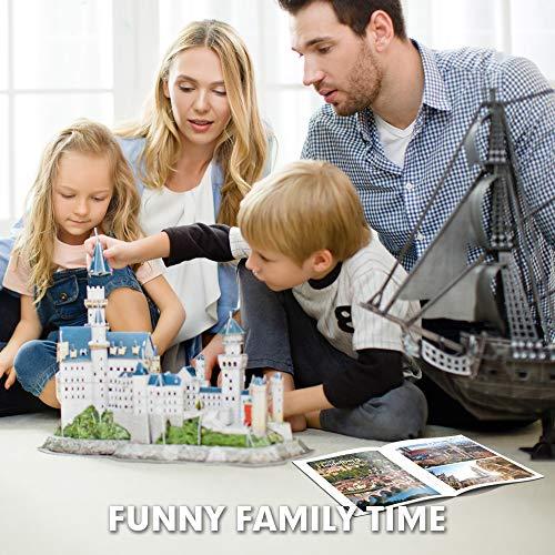 Cubicfun Puzzle 3d Per Bambini Adulti Germania Architettura Kit Di Modellismo Con Libretto Del National Geographic Castello Di Neuschwanstein 121 Pezzi 0 3