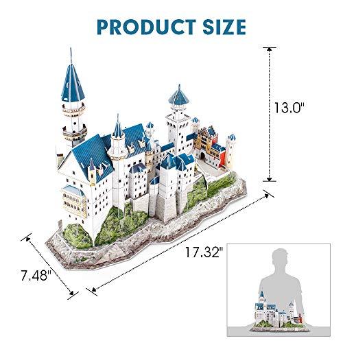Cubicfun Puzzle 3d Per Bambini Adulti Germania Architettura Kit Di Modellismo Con Libretto Del National Geographic Castello Di Neuschwanstein 121 Pezzi 0 5