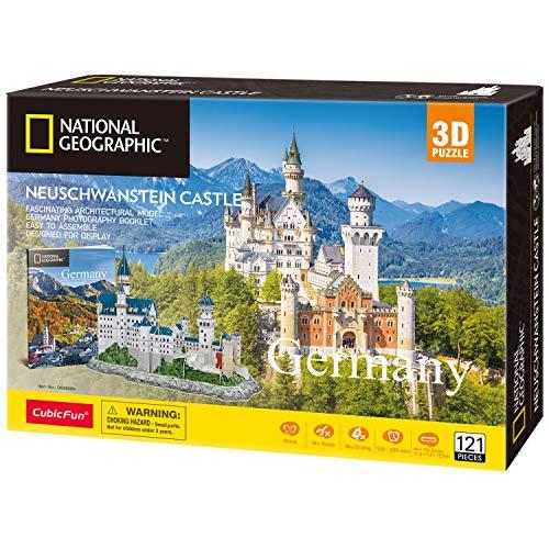 Cubicfun Puzzle 3d Per Bambini Adulti Germania Architettura Kit Di Modellismo Con Libretto Del National Geographic Castello Di Neuschwanstein 121 Pezzi 0