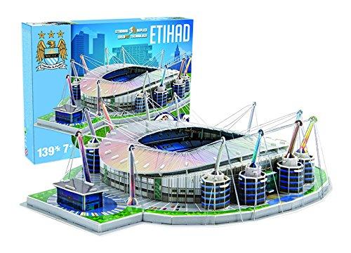 Giochi Preziosi 70037451 Puzzle 3d Stadio Etihad Manchester City 139 Pz Adatto A 7 Anni 0