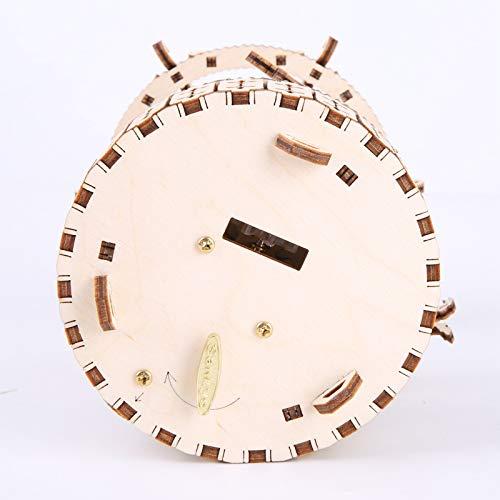 Gudoqi Puzzle 3d In Legno Tagliato A Laser Carosello Rotante Con Carillon Modello Meccanico Da Costruire Kit Artigianale Giocattolo Di Assemblaggio Fai Da Te Per Adolescenti E Adulti 0 3
