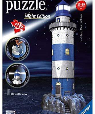 Leuchtturm Bei Nacht 3d Puzzle 216 Teile Erleben Sie Puzzeln In Der 3 Dimension 0