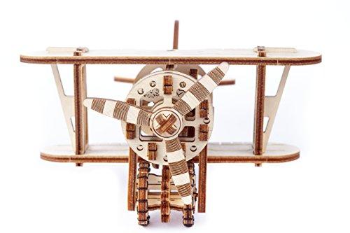Puzzle 3d Meccanico Biplane By Woodencity Modellino Di Progetti Per Adulti E Bambini 3d Modello Tecnico In Legno 0 0