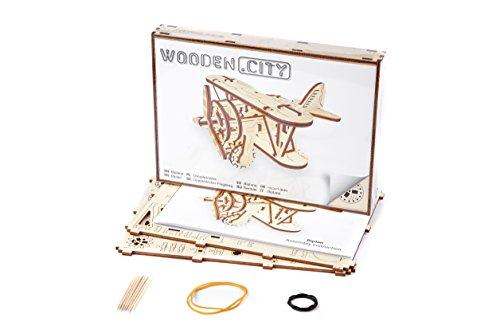 Puzzle 3d Meccanico Biplane By Woodencity Modellino Di Progetti Per Adulti E Bambini 3d Modello Tecnico In Legno 0 4