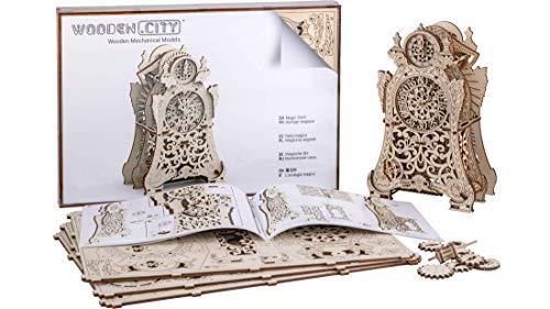 Puzzle 3d Meccanico Magic Clock By Woodencity Modellino Di Progetti Per Adulti E Bambini 3d Modello Tecnico In Legno 0