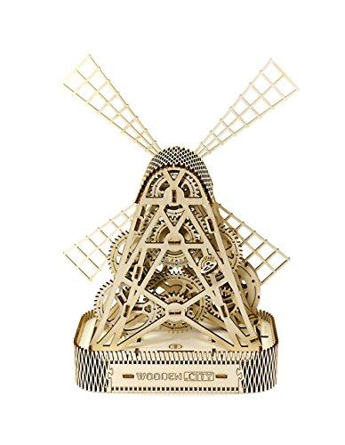 Puzzle 3d Meccanico Mill By Woodencity Modellino Di Progetti Per Adulti E Bambini 3d Modello Tecnico In Legno 0 0