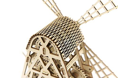 Puzzle 3d Meccanico Mill By Woodencity Modellino Di Progetti Per Adulti E Bambini 3d Modello Tecnico In Legno 0 2