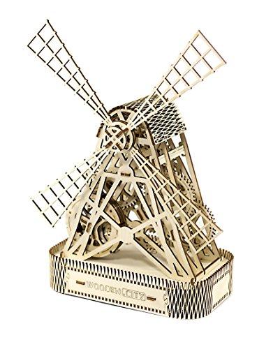 Puzzle 3d Meccanico Mill By Woodencity Modellino Di Progetti Per Adulti E Bambini 3d Modello Tecnico In Legno 0 3
