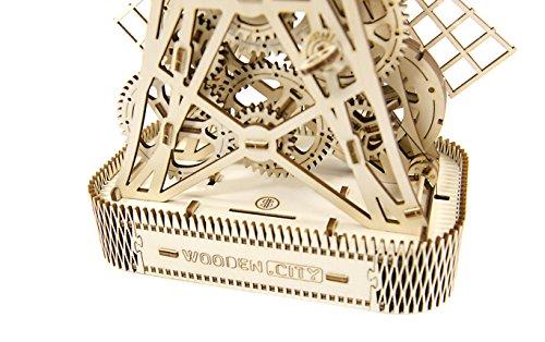 Puzzle 3d Meccanico Mill By Woodencity Modellino Di Progetti Per Adulti E Bambini 3d Modello Tecnico In Legno 0 4