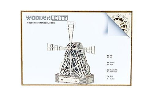 Puzzle 3d Meccanico Mill By Woodencity Modellino Di Progetti Per Adulti E Bambini 3d Modello Tecnico In Legno 0 5