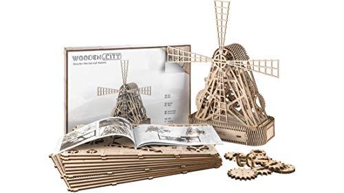 Puzzle 3d Meccanico Mill By Woodencity Modellino Di Progetti Per Adulti E Bambini 3d Modello Tecnico In Legno 0