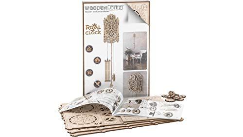 Puzzle 3d Meccanico Royal Clock By Woodencity Modellino Di Progetti Per Adulti E Bambini 3d Modello Tecnico In Legno 0 0