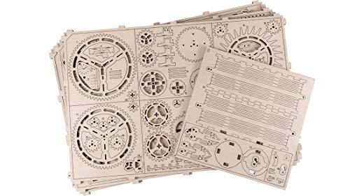 Puzzle 3d Meccanico Royal Clock By Woodencity Modellino Di Progetti Per Adulti E Bambini 3d Modello Tecnico In Legno 0 1