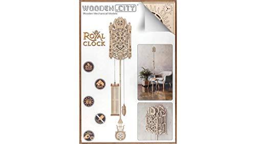 Puzzle 3d Meccanico Royal Clock By Woodencity Modellino Di Progetti Per Adulti E Bambini 3d Modello Tecnico In Legno 0 2