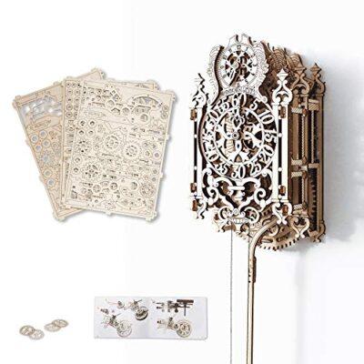 Puzzle 3d Meccanico Royal Clock By Woodencity Modellino Di Progetti Per Adulti E Bambini 3d Modello Tecnico In Legno 0