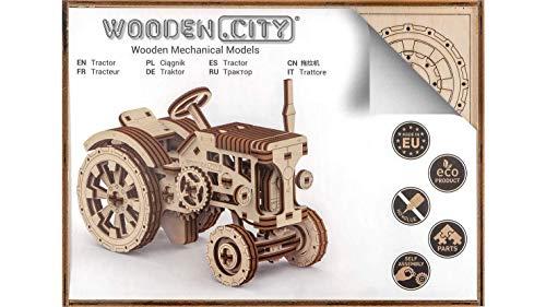 Puzzle 3d Meccanico Tractor By Woodencity Modellino Di Progetti Per Adulti E Bambini 3d Modello Tecnico In Legno 0 2