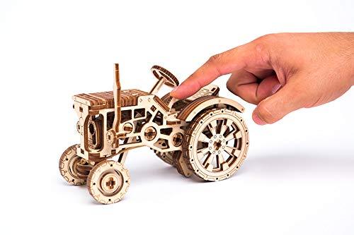Puzzle 3d Meccanico Tractor By Woodencity Modellino Di Progetti Per Adulti E Bambini 3d Modello Tecnico In Legno 0 3