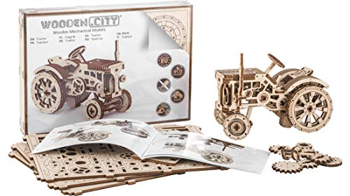 Puzzle 3d Meccanico Tractor By Woodencity Modellino Di Progetti Per Adulti E Bambini 3d Modello Tecnico In Legno 0