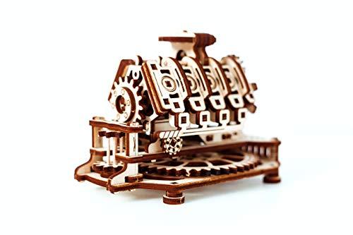 Puzzle 3d Meccanico V8 Engine By Woodencity Modellino Di Progetti Per Adulti E Bambini 3d Modello Tecnico In Legno 14 X 10 X 107 Cm 0 0