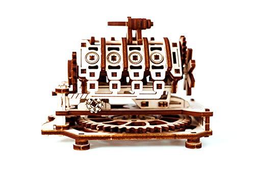 Puzzle 3d Meccanico V8 Engine By Woodencity Modellino Di Progetti Per Adulti E Bambini 3d Modello Tecnico In Legno 14 X 10 X 107 Cm 0 1