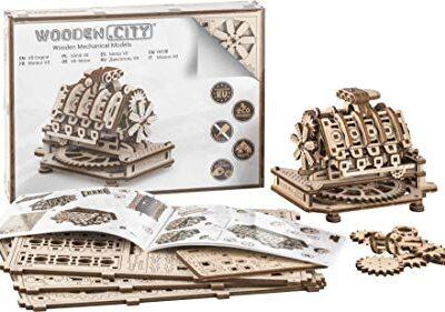 Puzzle 3d Meccanico V8 Engine By Woodencity Modellino Di Progetti Per Adulti E Bambini 3d Modello Tecnico In Legno 14 X 10 X 107 Cm 0
